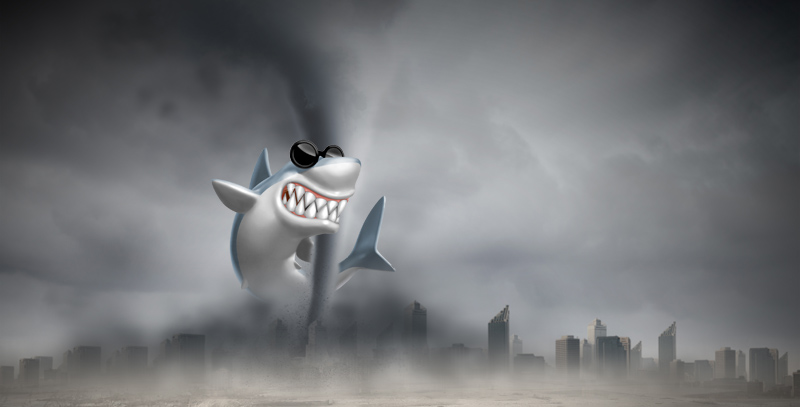 Shark in a tornado